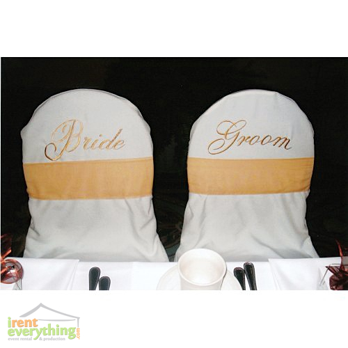 Chair Covers Banquet Bride Amp Groom White Irent
