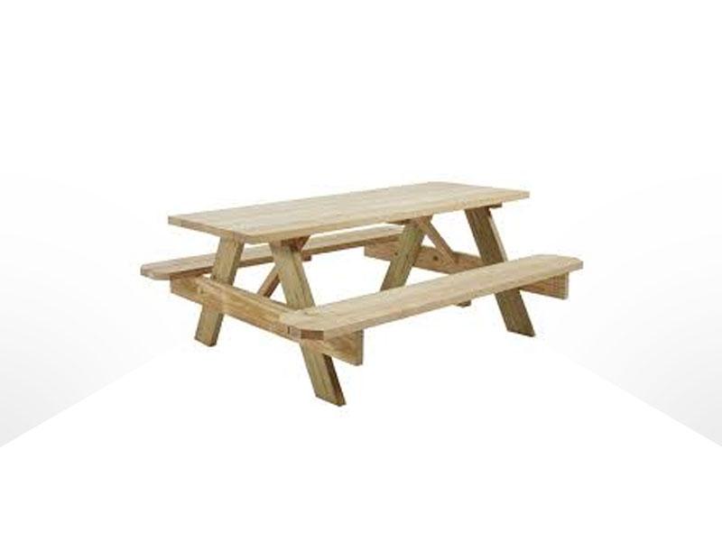 Home / Rentals / Tables / Table U2013 Wooden Picnic ...