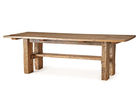 Wooden farm table irent everything for Wood kitchen table plans