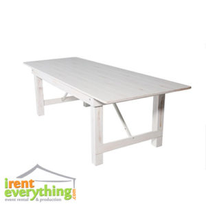 Distressed Antique White Farm Table