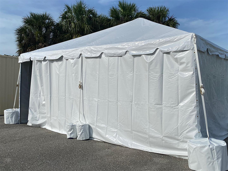 Clean white tent